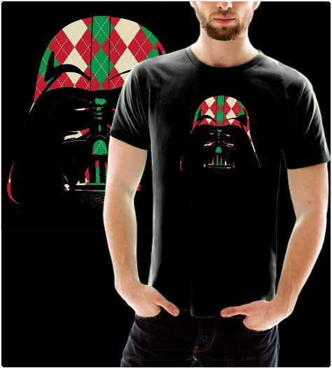Holiday Plaid Darth-T-Shirt-Star Wars-Shirt Battle