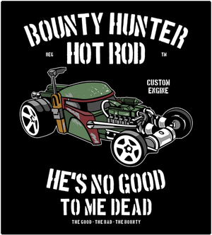 Bounty Hunter Hot Rod-T-Shirt-Star Wars-Shirt Battle