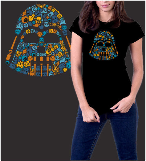 ICONIC DARTH COLORS-T-Shirt-Star Wars-Shirt Battle