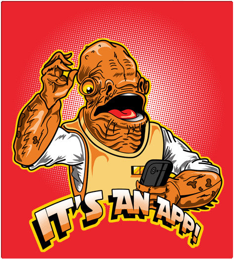 IT'S AN APP!-T-Shirt-Star Wars-Shirt Battle