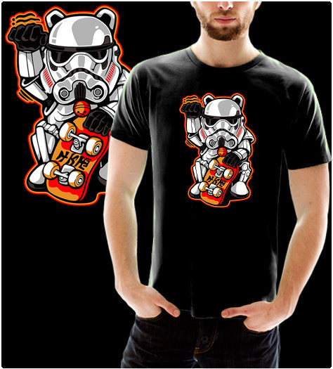 Maneki Trooper-T-Shirt-Star Wars-Shirt Battle