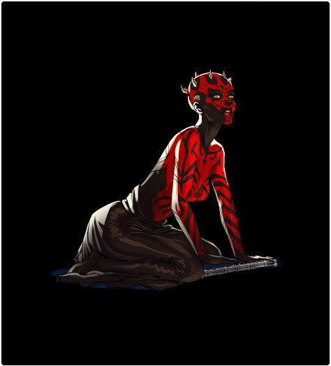 Maul Pin-up-T-Shirt-Star Wars-Shirt Battle