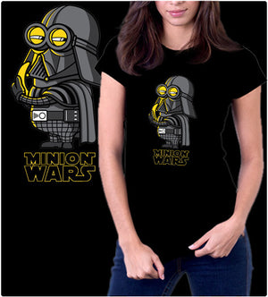 Minion Wars-T-Shirt-Star Wars-Shirt Battle