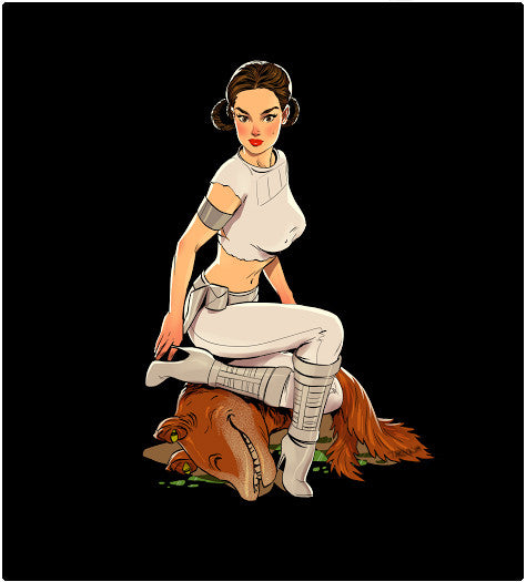 Padme Pin-Up-T-Shirt-Star Wars-Shirt Battle