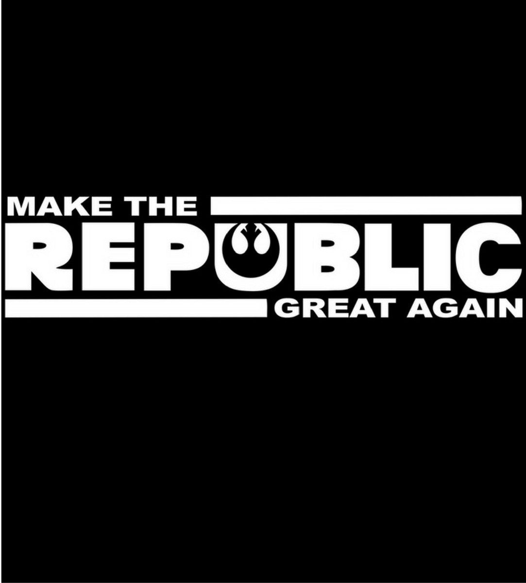 Make The Republic Great Again-T-Shirt-Star Wars-Shirt Battle