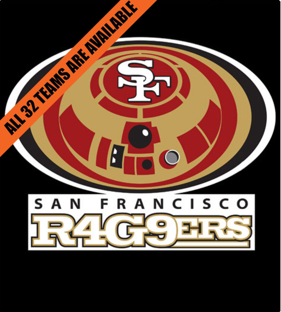 San Francisco R4G9ers-T-Shirt-Star Wars-Shirt Battle