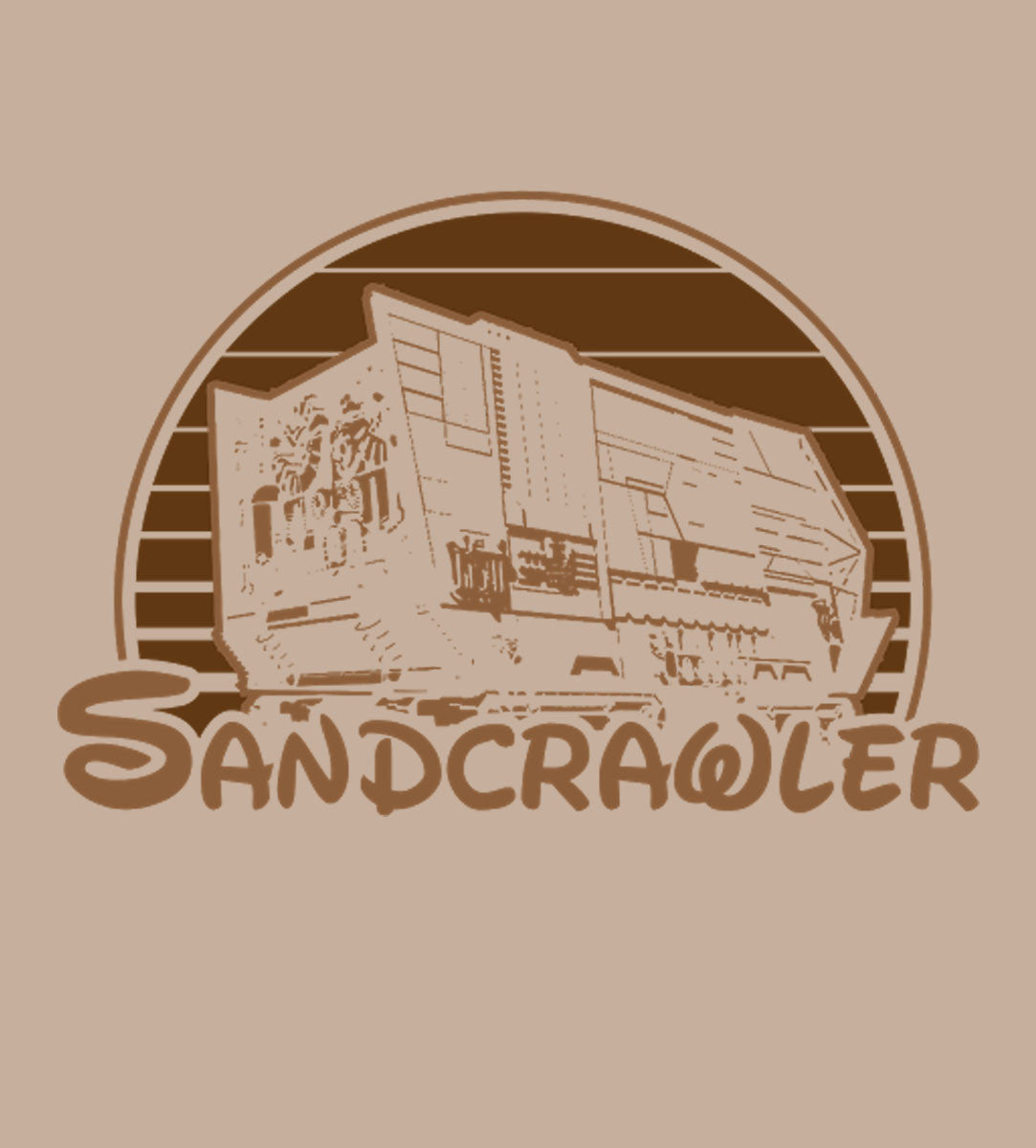 Sandcrawler-T-Shirt-Star Wars-Shirt Battle