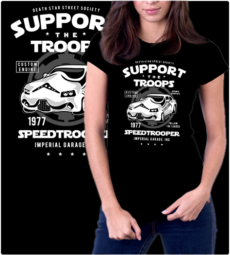 Speed Trooper-T-Shirt-Star Wars-Shirt Battle
