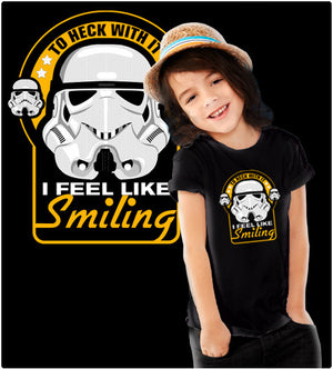 KEEP SMILING TROOPER-T-Shirt-Star Wars-Shirt Battle