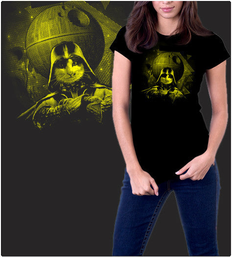 Kitty Vader-T-Shirt-Star Wars-Shirt Battle