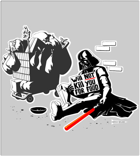 Will Not Kill For Food-T-Shirt-Star Wars-Shirt Battle