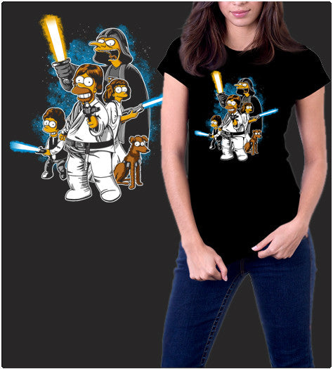 Yellow Wars-T-Shirt-Star Wars-Shirt Battle