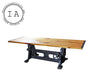 Vintage Original Industrial Machine Crank Base Kitchen Dining Conference Table