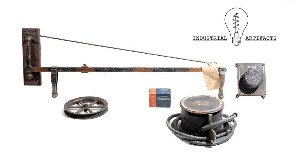 Incredibly Rare Museum Quality Japanned Copper Turn Of The Century Dental Drill
