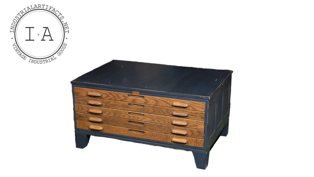 Hamilton Five Drawer Flat File In Midnight Blue