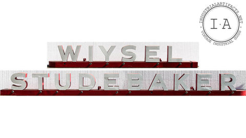 Large Antique Neon Studebaker Dealership Service Signage