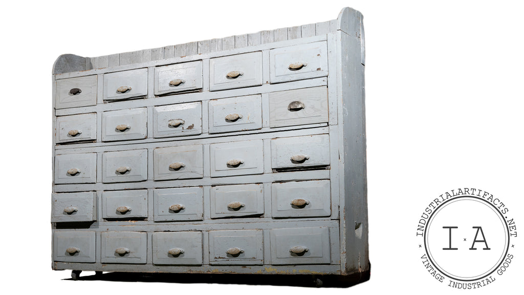 Depression Era 25 Drawer Apothecary Cabinet