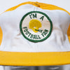 Vintage Football Fan Baseball Cap
