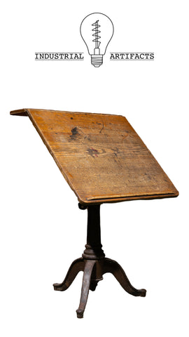 Antique Cast Iron Base Drafting Table