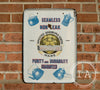 Porcelain Pyrolite Advertising Sign