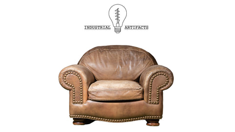 Vintage Brown Leather Club Chair By Hancock & Moore