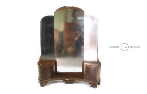 Art Deco Waterfall Three Way Mirror