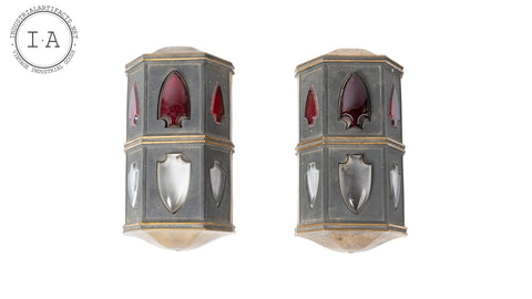 Early 20th Century Elevator Lamp Pair