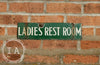 Double Sided Porcelain Sinclair Ladies Restroom Sign