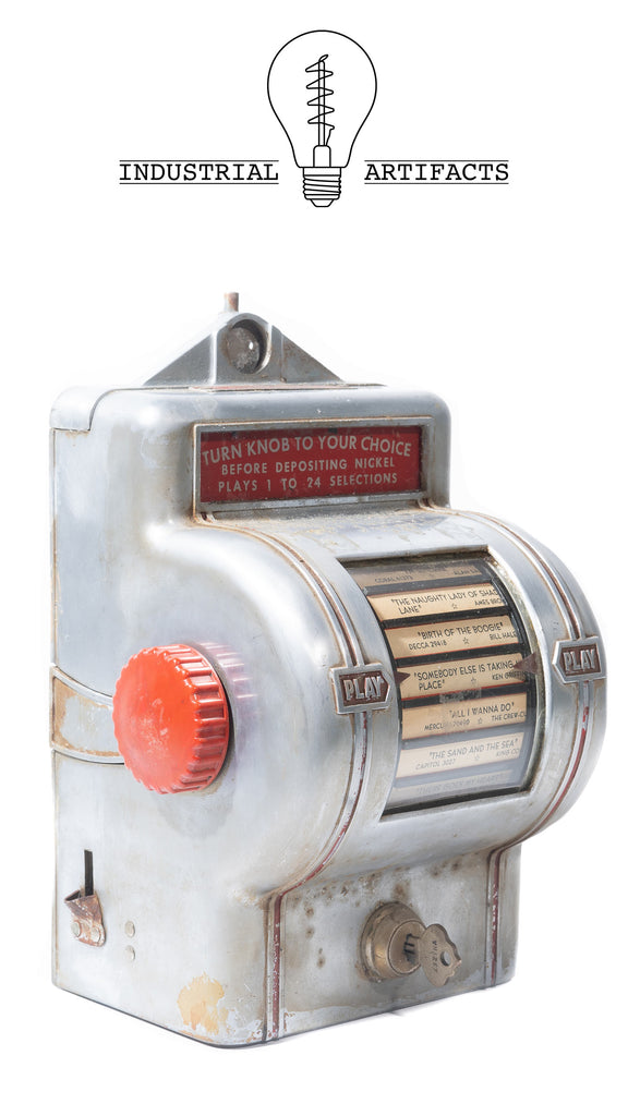 1940s Tabletop Soda Shop Diner Jukebox Selector by Packard