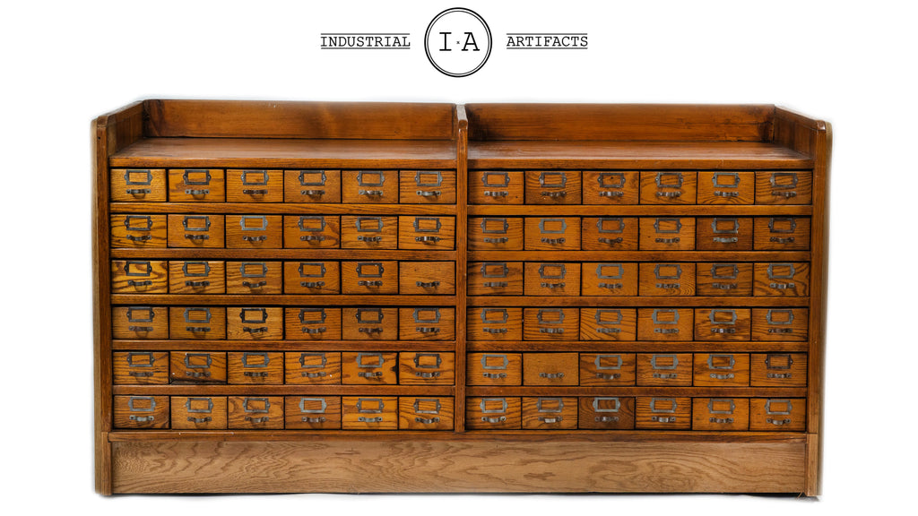 Antique 66 Drawer Hardware Store Cabinet