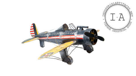 Contemporary Folk Art Riveted Plane Model