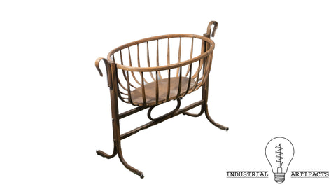 Turn Of The Century Thonet Style Bentwood Large Bassinet