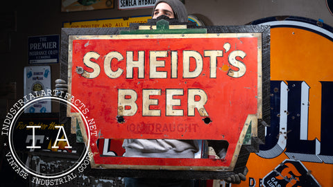 Antique Scheidt's Beer Neon Sign c. 1930