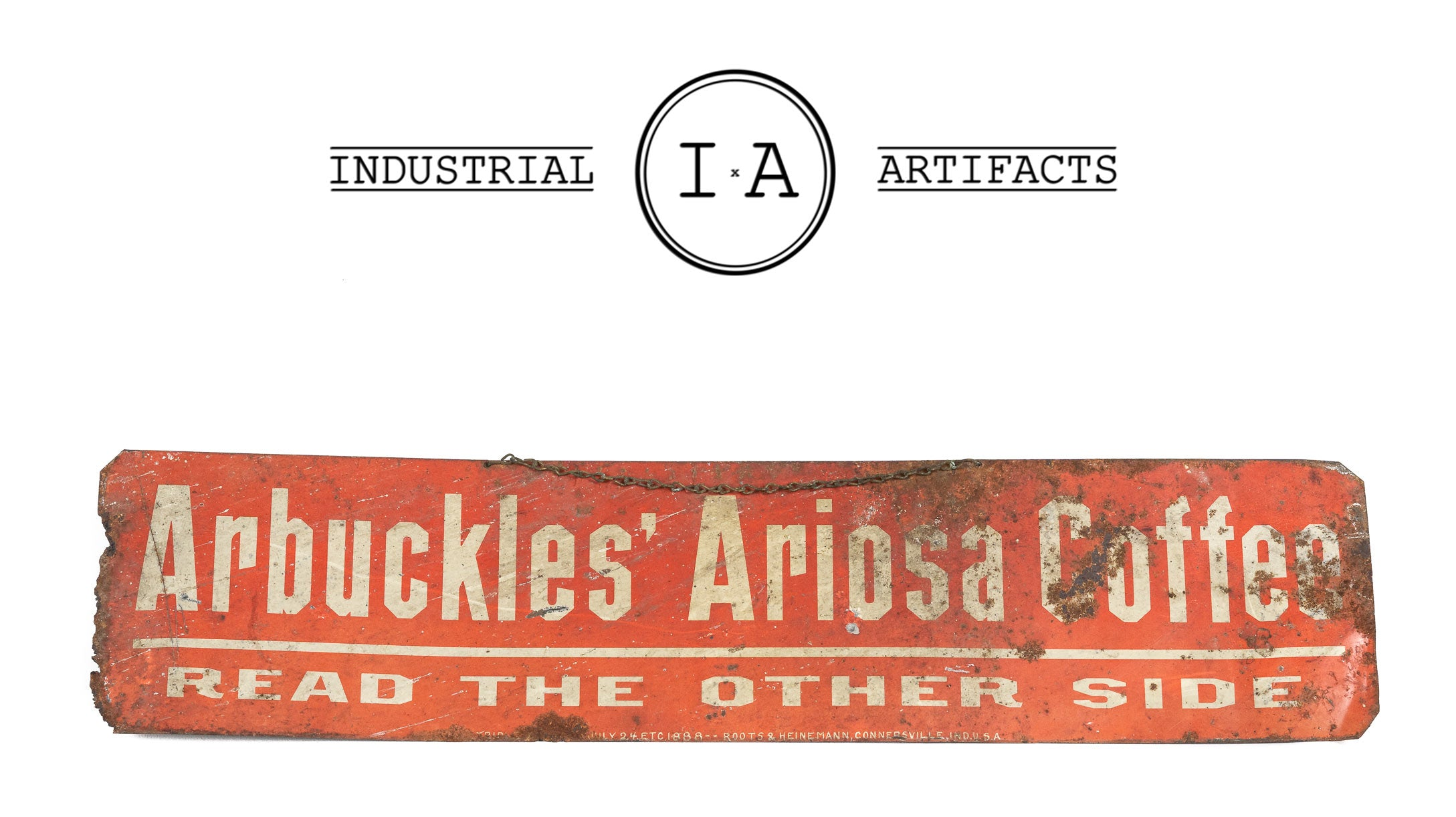 C. 1888 Double Sided Arbuckle's Coffee Triple Sign