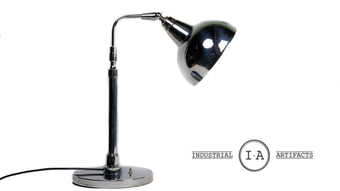Mid Century Chrome Italian Desk Lamp