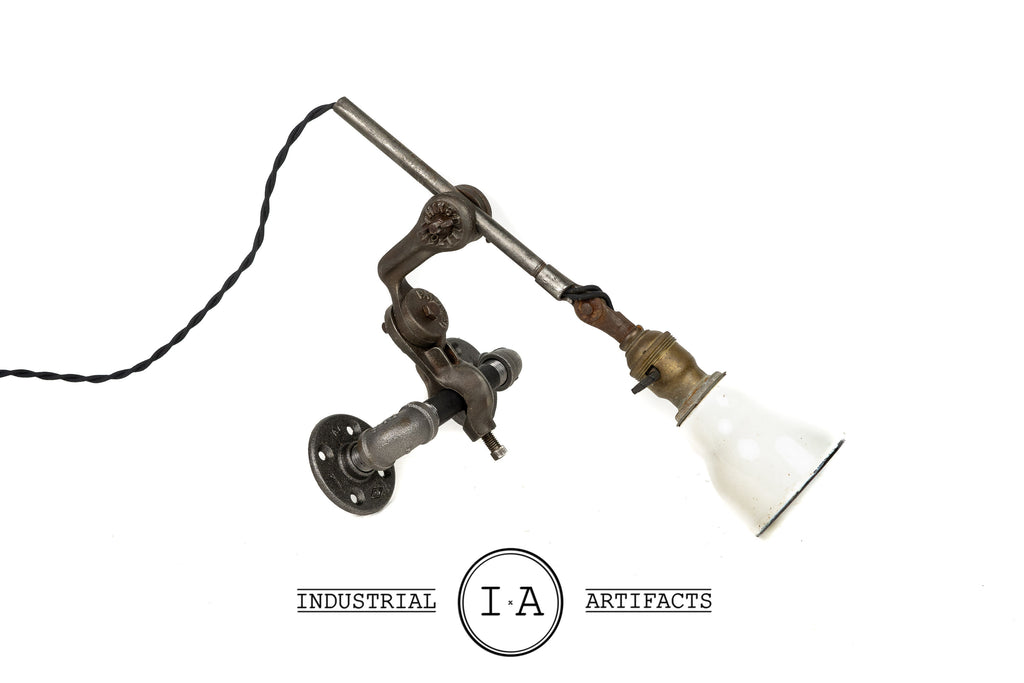 C. 1940 Vintage Industrial Articulated Task Lamp