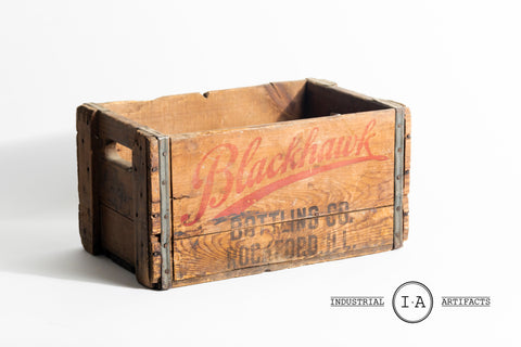 Vintage Blackhawk Bottling Company Crate