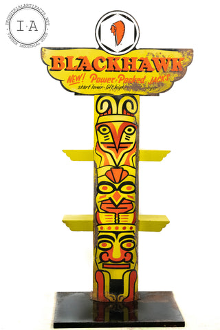 C. 1940 Blackhawk Bottle Jack Metal Totem Display