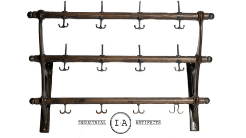 Antique Industrial Barber Shop Coat Rack