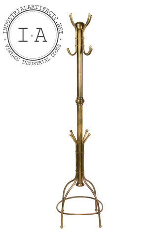 C. Early 1940s Brass Coat Rack
