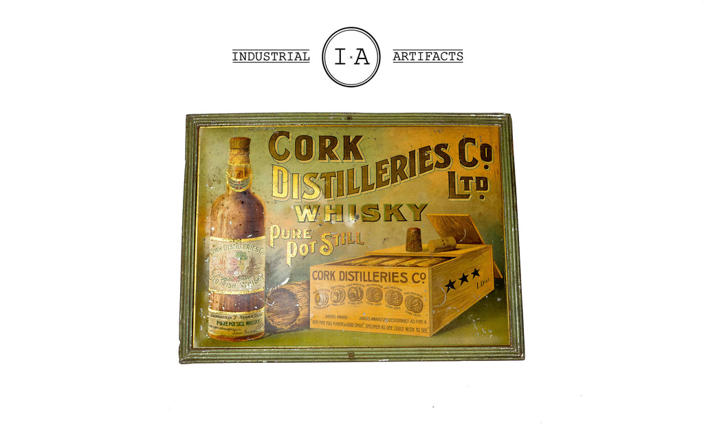 C. 1900 Irish Cork Distilleries Co Tin Sign