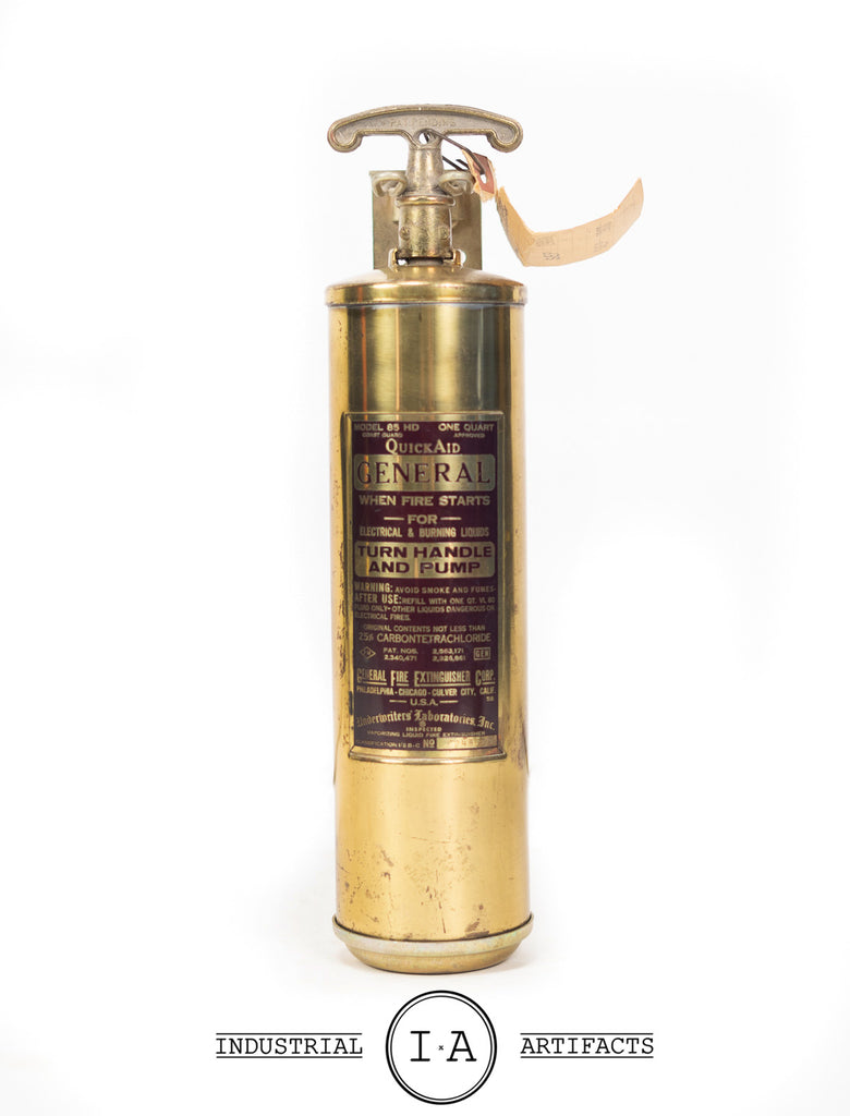 C. 1950 Brass Fire Exinguisher
