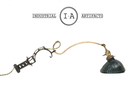 Turn Of The Century Faries #15 Fully Restored Brass Arm Dental Lamp
