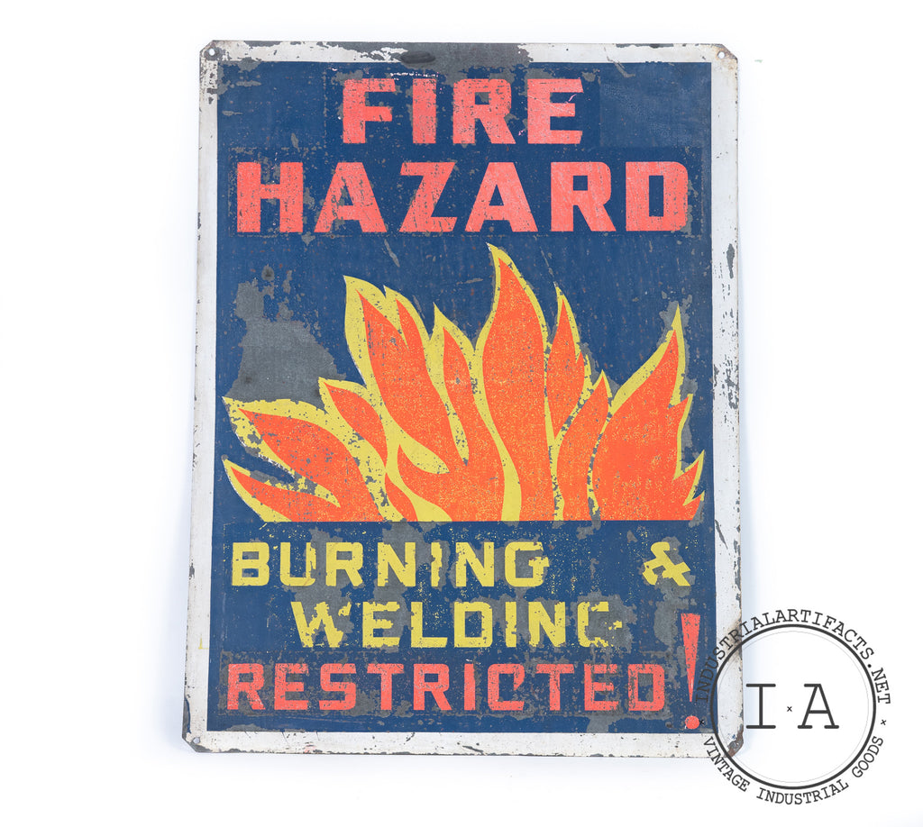 C. 1930s Folk Art Safety Sign