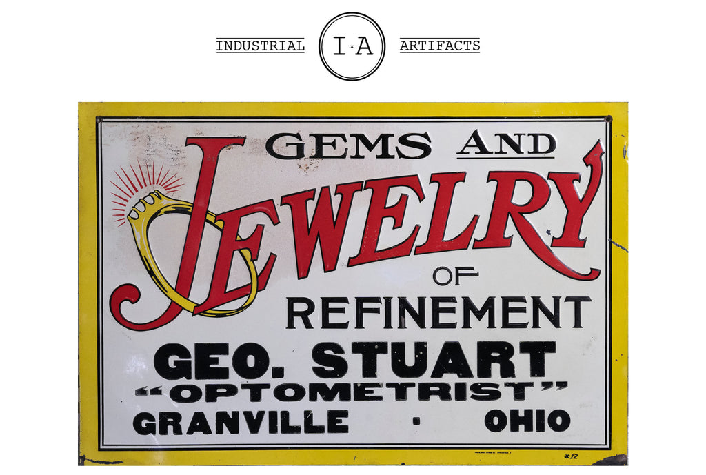 C. 1911 Jewelry Store Embossed Tin Sign