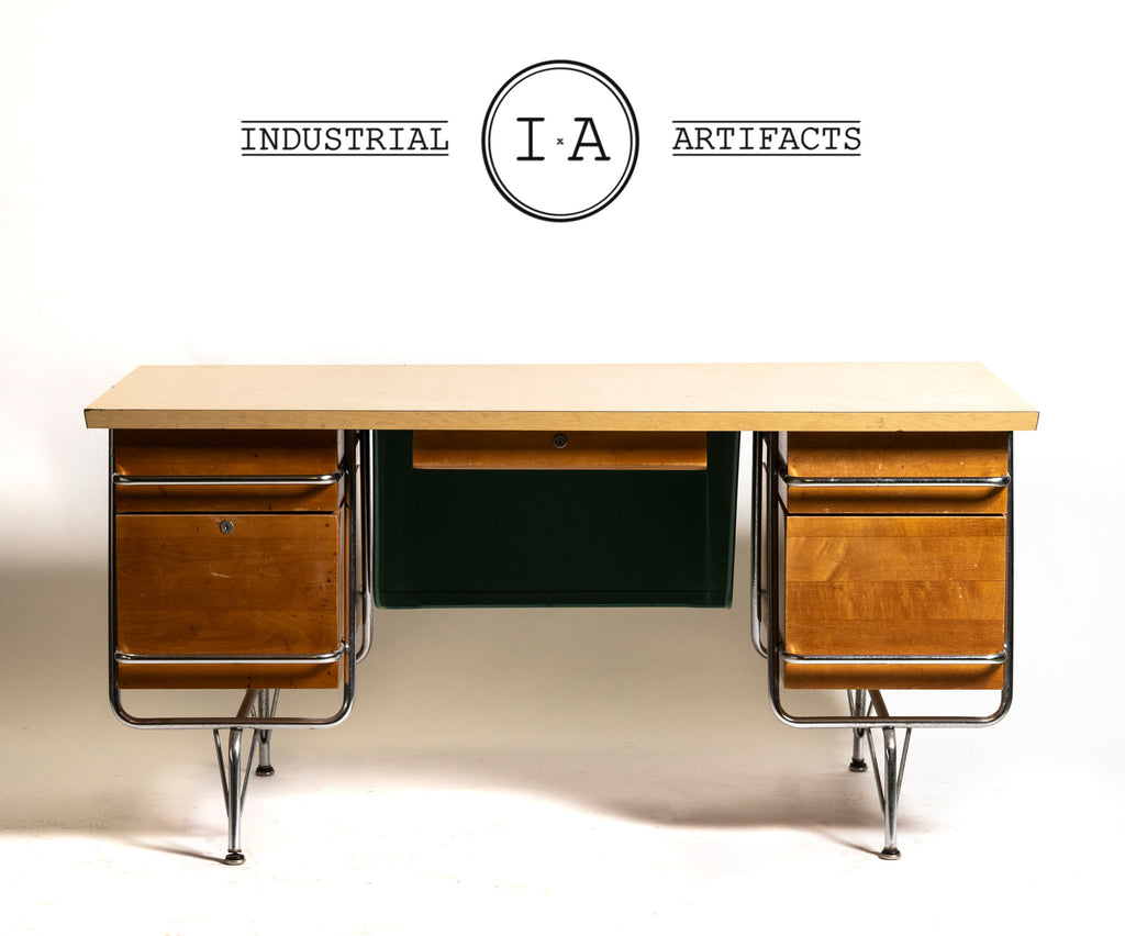 Kem Weber for Haywood Wakefield Mid Century Streamline Desk