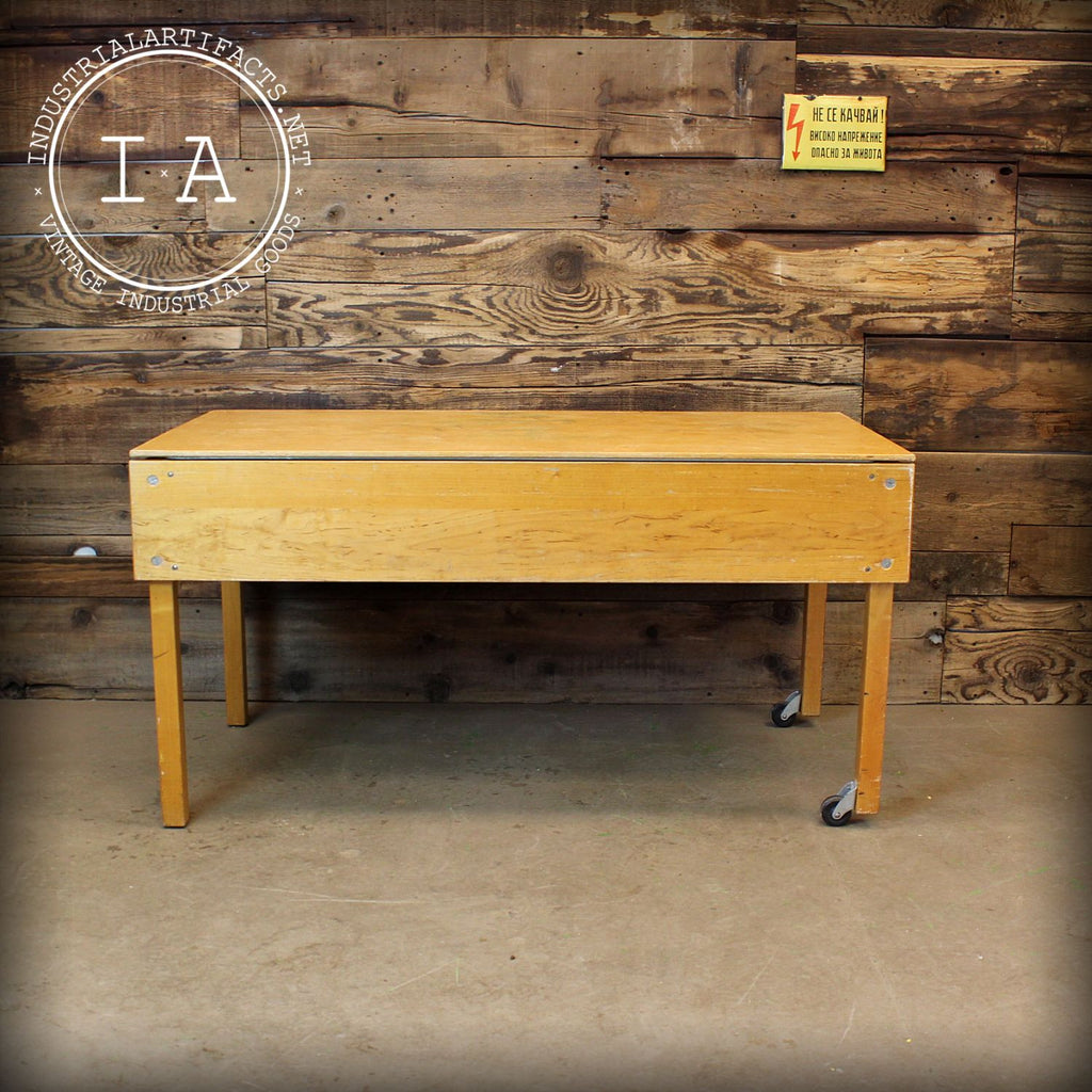 Vintage Industrial Mid Century Modern Sand Box Table
