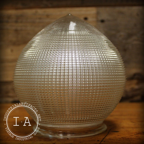 Vintage Industrial Glass Holophane Acorn Dental Lamp Shade