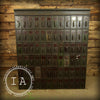 Vintage Industrial Steel 72 Drawer Steel Mail File Ledger Cabinet Card Catalog