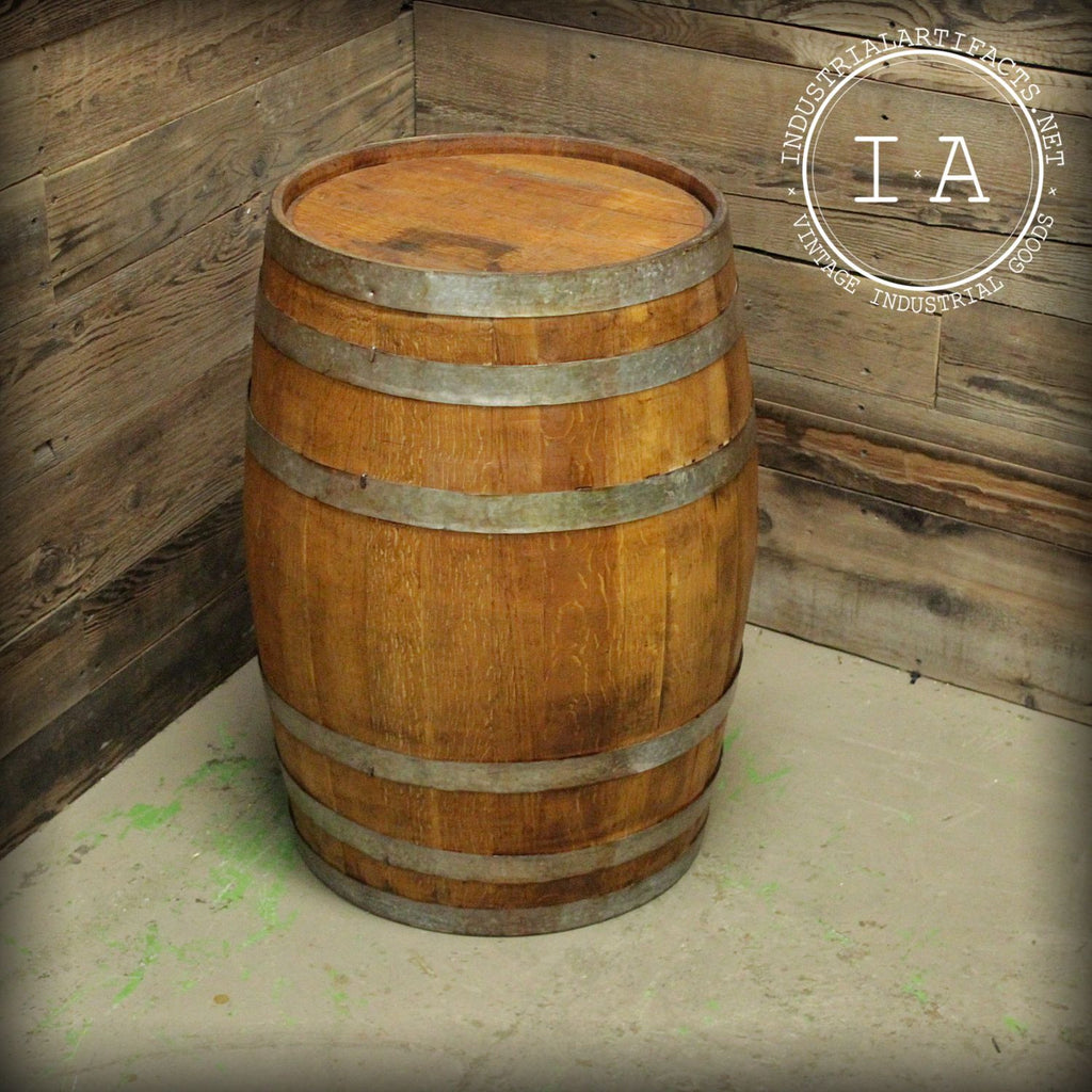Vintage Wooden Liquor Barrel Full Keg